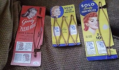 Vintage Solo Comfy Hair Roller on Original Store Card -Goody Flexo Roll