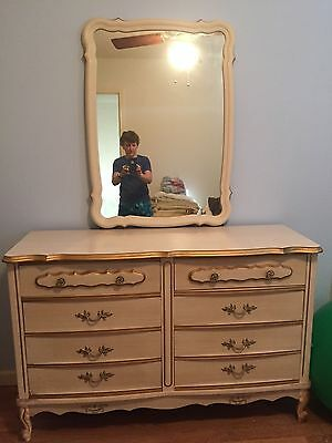 1970's Sears French  Provential chest of drawers  and dresser with mirror