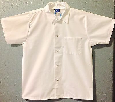 NEW MUCH HOSPITALITY SNAP FRONT ECONOMY CHEF KITCHEN SHIRT SIZE XS S M L (1 pc )