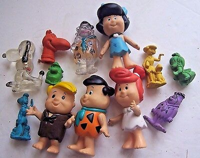 Vintage Flintstones Toy Figure Lot & Snoopy Fred Barney Wilma Betty Pebbles Dino