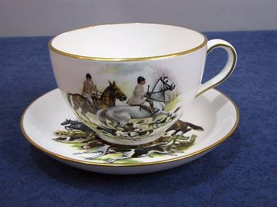 Hammersley Fox Hunt Scene, Horses Dogs Oversized Cup & Saucer Set, England