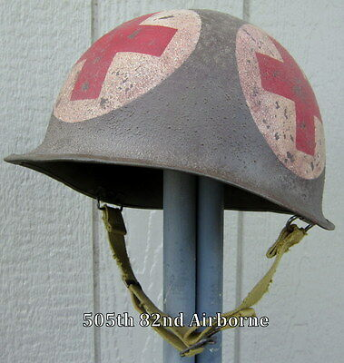 WWII M-1 Helmet US Army Medic 4-Panel (A)