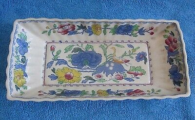 vintage 1940s MASONS Regency rectangular DISH 22 x 10.4cm imperfect