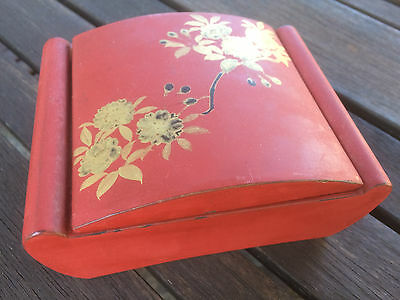Very old Japanese Lacquer Box with Lid