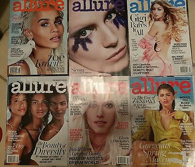 lot of  6  magazines back issues  allure