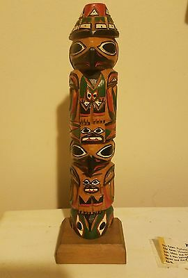 Native American totem pole by Master Carver Ray Williams- Creation Legend