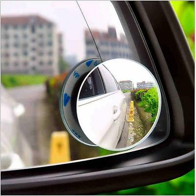 1 pair 360° frameless ultrathin Wide Angle Round Convex Blind Spot mirror SP