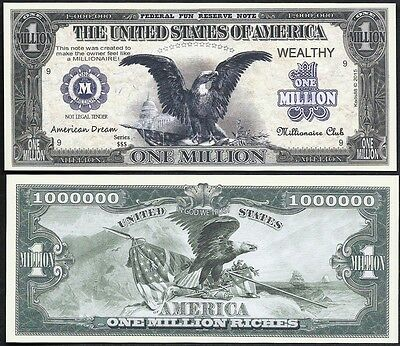 Lot of 100 BILLS - Black Eagle American Dream Million Dollar Bill