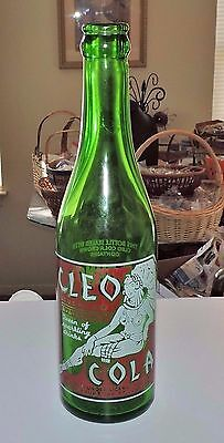 "Rare Straight Side  Cleo Cola Green A.c.l.bottle "" Ocallala, Nebraska  "" Nice """
