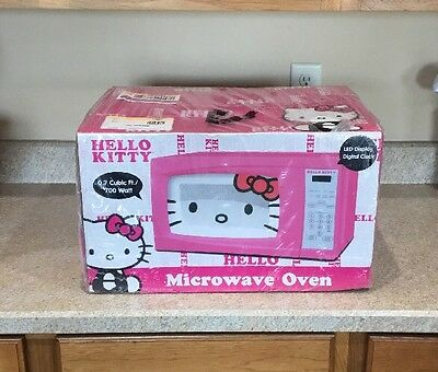 NEW Hello Kitty Pink Microwave .7cf Still Sealed In Plastic