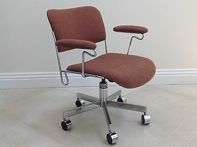 Mid-Century Modern Chair Office Frank Doerner Chrome Eames Knoll Steelcase Era