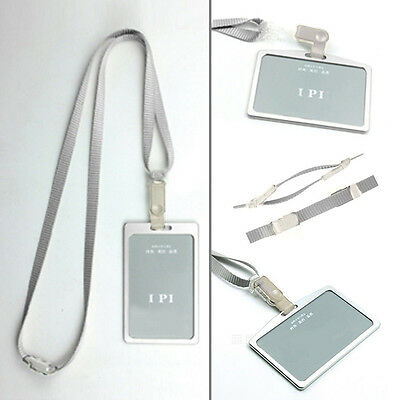 New Aluminum Alloy Business Work Card ID Badge And Adjustable Lanyard Holders UK
