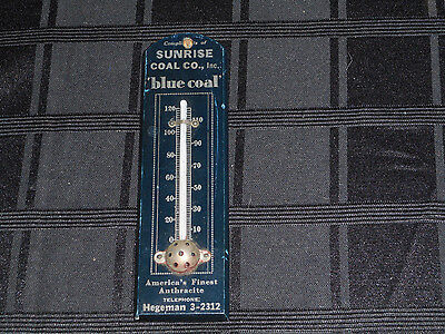 Vintage Sunrise Coal Co. Wooden Advertising Thermometer