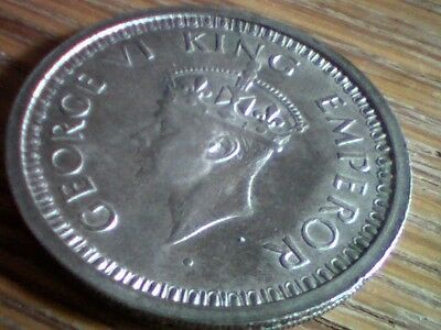 George Ii Vi King Emperor One Rupee India 1945 Silver Coin