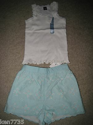 Nwt Baby Gap Girls Pretty Little Things Eyelet Shorts & Lace Tank Size 3 3T