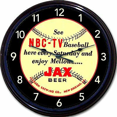 Jackson Brewing Co Jax New Orleans Beer Coaster Wall Clock Baseball NBC TV 10""