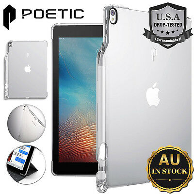 Clear/Gray For iPad Pro 10.5 Case POETIC [Ultra-Thin Impact Resistant TPU] Case