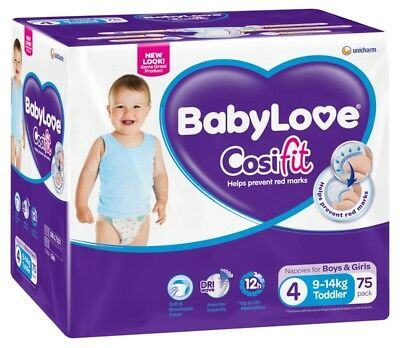 Baby Love Nappies Toddler  Jumbo - 75 Pack