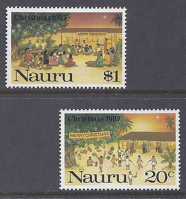 1987 Nauru Christmas Set Of 2 Fine Mint Muh/mnh