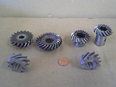 Steel Beveled Gears Miscellaneous Steam Punk Lot Of 6