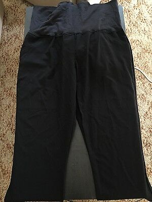 Womens Target Black Roll Waist Maternity Work Pants Sz 18 New With Tag