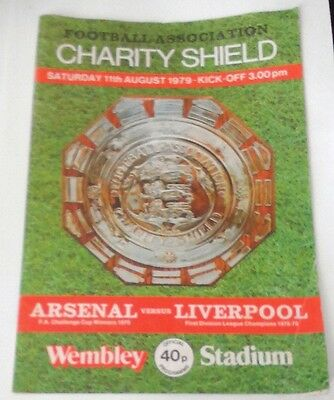 FOOTBALL ASSOC. PROGRAMME FOR CHARITY SHEILD ARSENAL v LIVERPOOL 11/8/79