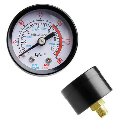 "0-180PSI 1/8"" Air Compressor Pneumatic Hydraulic Fluid Pressure Gauge 0-12Bar"