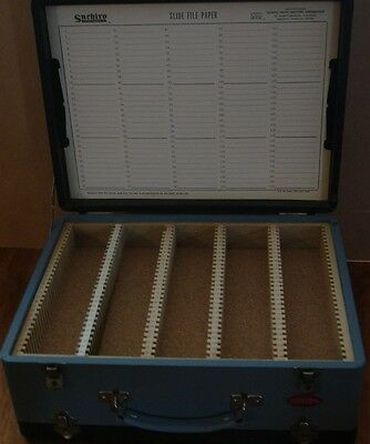 Japanese Suehiro Vintage Lockable Slide File Case Box Organiser
