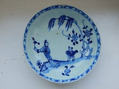 Early Chinese blue and white porcelain dish