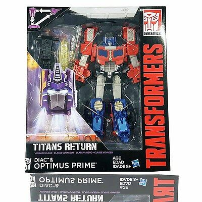 Hasbro Transformers Titans Return Voyager Diac & Optimus Prime NEW