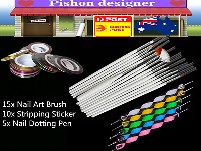 DIY Nail Art Painting Drawing Design Polish Brushes Dotting Pen Tool Kit Set
