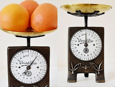 Old Style, Vintage, Antique, Shabby Chic, German Kitchen Scale - PALMS
