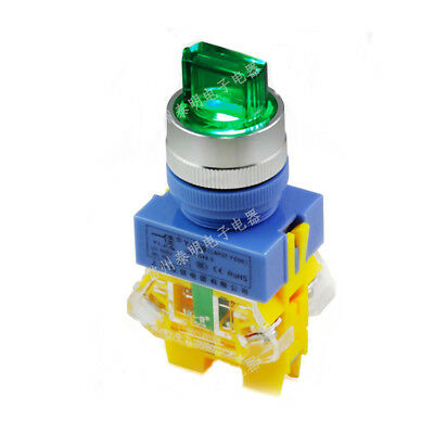 1PCS LED 12/220V Rotary Switch 3 Positions Changeover Illuminated 22MM