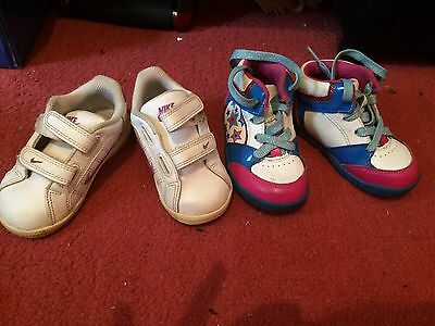 baby girl shoes Nike size 6.5 , Clarks Size6F