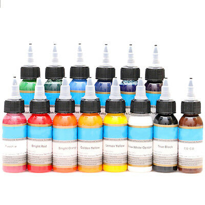 30ml Tattoo Inks 14 Colors Pigment Inks Set For Body Tattoo Art Utility HF
