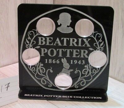 Beatrix Potter 50 pence Coin Hunt album royal mint stand 50p display holder