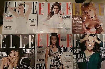 lot of  6  magazines back issues  ELLE