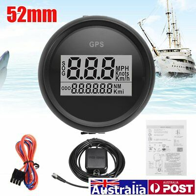 52mm Digital GPS Speedometer Gauge Odometer Universal for Auto Car Truck Marine