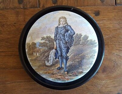 Framed Prattware Lid 'Blue Boy'