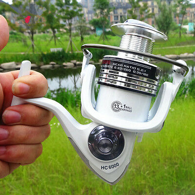 2017 HC1000-7000 Ball Drag Fishing Spinning Reel Spare Spool Salt/Fresh Water