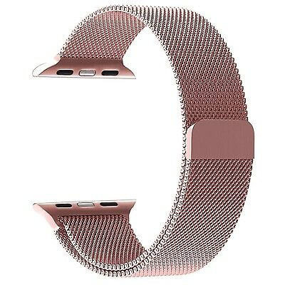 HOT Milanese Loop Replacement Bands For Apple Watch IWatch 42mm Series 1,2 Rose