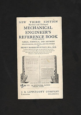 1907 ad brochure for Mechanical Engineer's Reference Book (3rd ed.) * H H Suplee