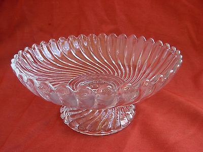 BACCARAT,ANTIQUE FRENCH CRYSTAL PEDESTAL DISH,COMPOTIER,EARLY 20th CENTURY.