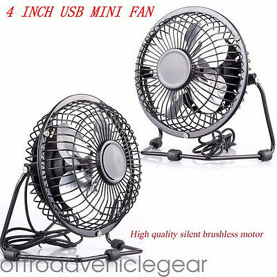 "4 "" Mini Usb Desk Fan Small Powerful Laptop Mac Cooling Fan Home Office Summer"