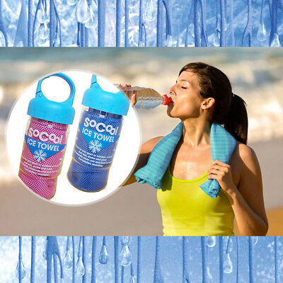 Instant Cooling Towel Sports Gym Towel Drying Sweat Pets Baby Absorb Dry & Case