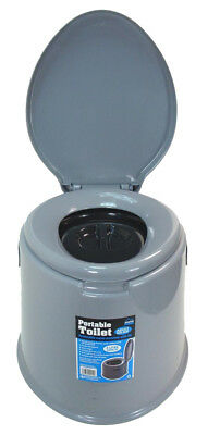 5L PORTABLE TOILET COMPACT POTTY LOO CAMPING CARAVAN PICNIC FISHING FESTIVALS Ne