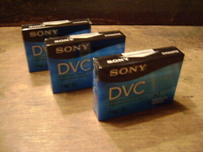 Three New SONY Mini DV Premium 60 minute Digital Video Cassettes (DVC)