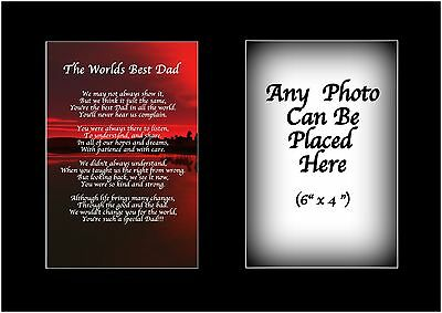 Worlds Best Dad Poem Personalised with ANY PHOTO Birthday Fathers Christmas Gift