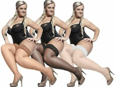 Hold Ups Lace Top XL - XXXXL Adrian Bella New PLUS SIZE 15 den Sheer Stockings