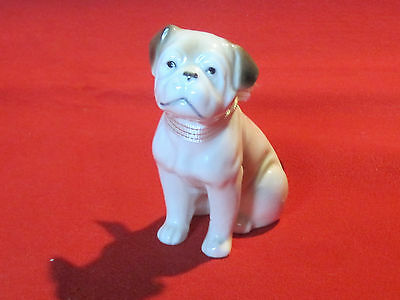 Vintage porcelain Bulldog puppy dog, very sweet face